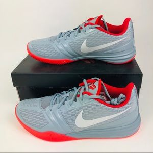 Nike KB Mentality Kobe Shoes Dove Grey Red 12 New